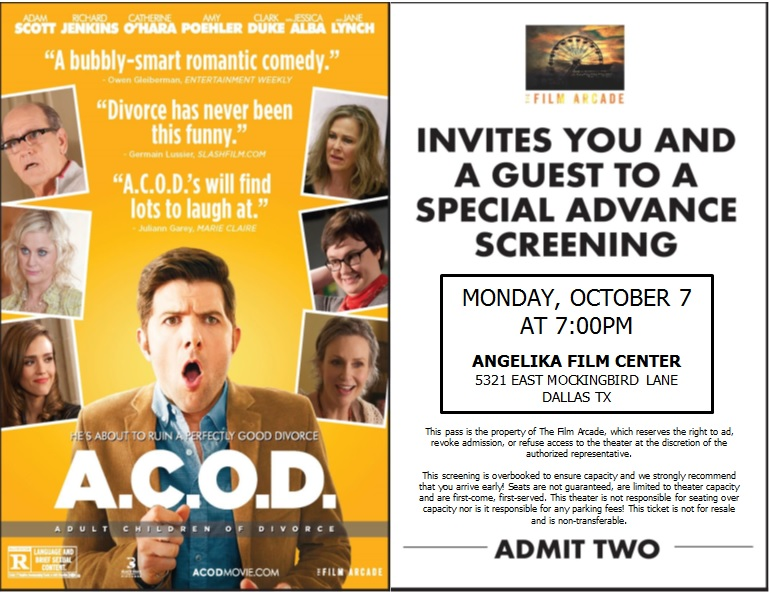 all passes claimed � free advance screening passes to �ac